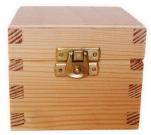 Pine Wood tea Box With Clasp 9.0 wide, 8.0 deep, 8.0 high